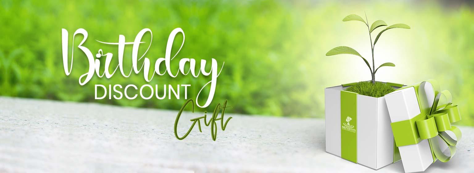 Nefertiti Birthday Discount Website Design En