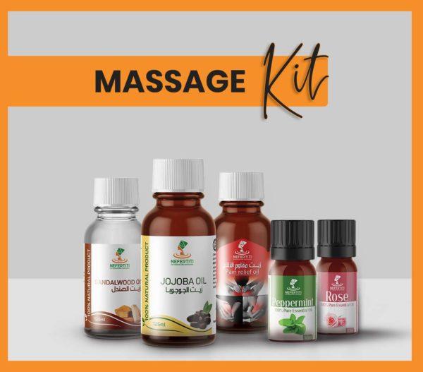 Nefertiti NaturalOilsHerbs for Massage Kit En