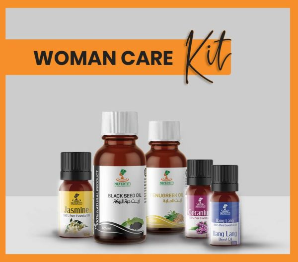 Nefertiti NaturalOilsHerbs for Woman Care Kit En 1