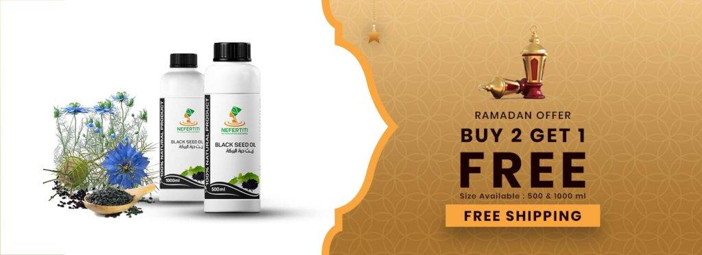 01 Nefertiti NaturalOilsHerbs RamadanOffer1 Blacksed 1litre Campagin En 1